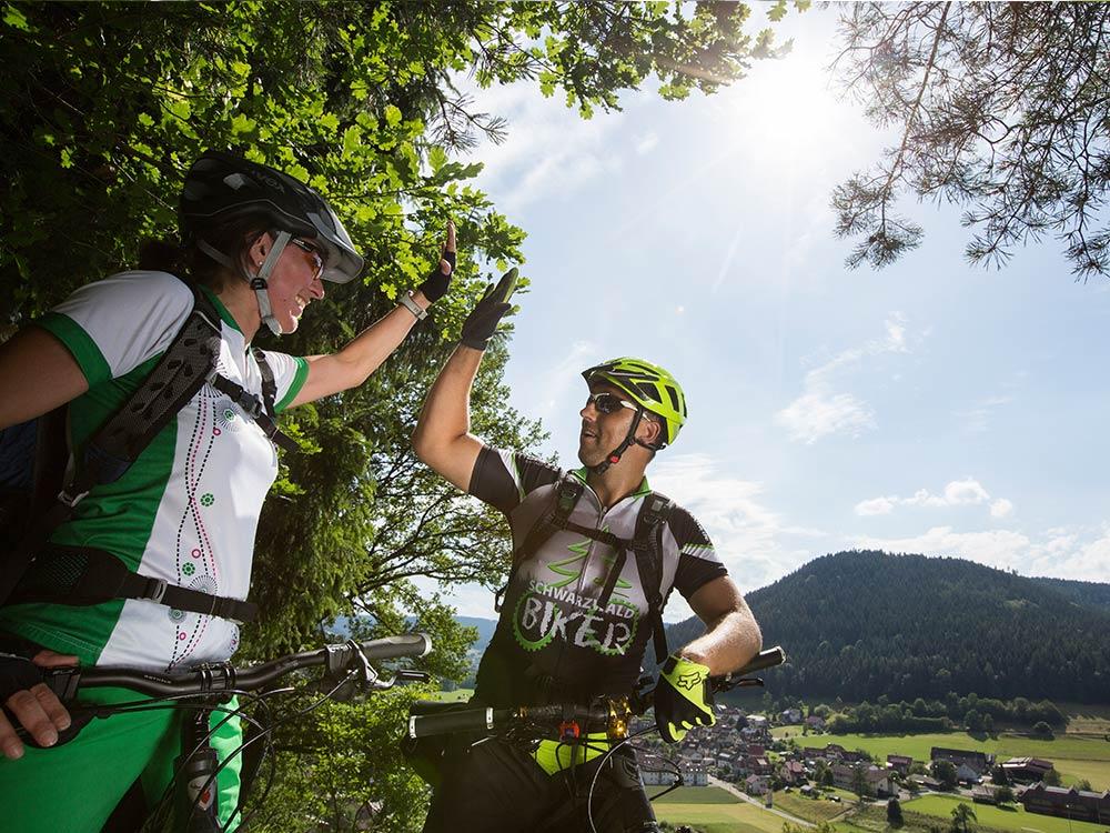 High five MTB Fahrtechnik Training in Baiersbronn im Schwarzwald