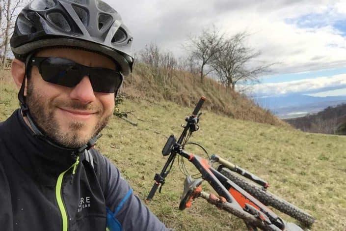 Kurze Pause beim E-Bike Fahrtechnik Kurs
