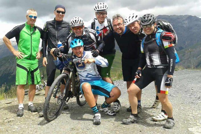 Gruppe MTB Reise Alpen Livigno