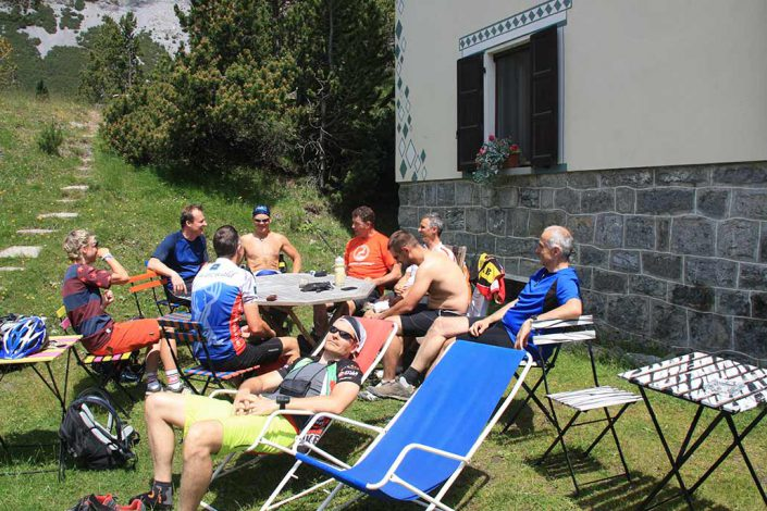 Pause Mountainbike Alpencross Tour Schmuggler Expert Biketour