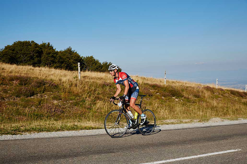 Schönstes Wetter auf der Rennrad Tour Belchen
