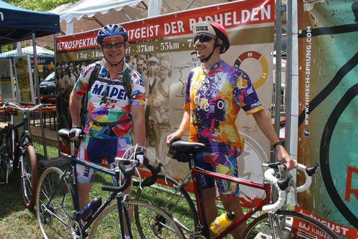 Radfahrer Retro Cycling Rennrad Event