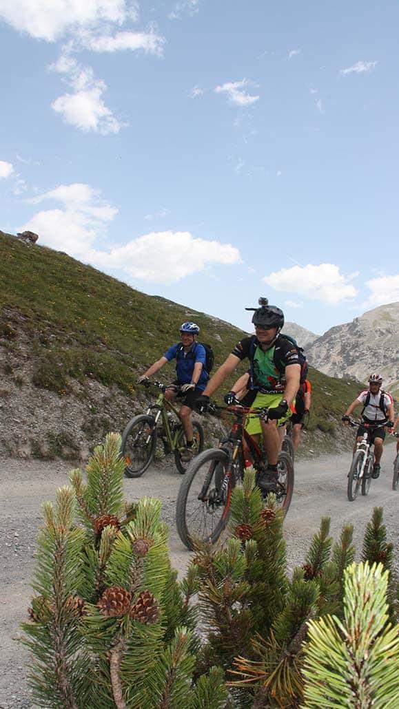 Mountainbiker Mountainbike Alpencross Tour Schmuggler Expert