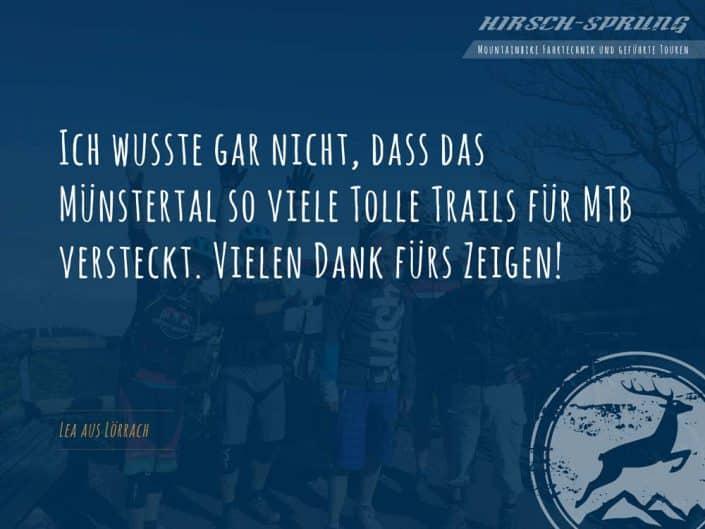 Testimonial ist zufrieden mit Gondel2Trail Event in Münstertal