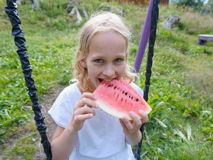 Wassermelone HIRSCH-SPRUNG MTB Camp für Kinder