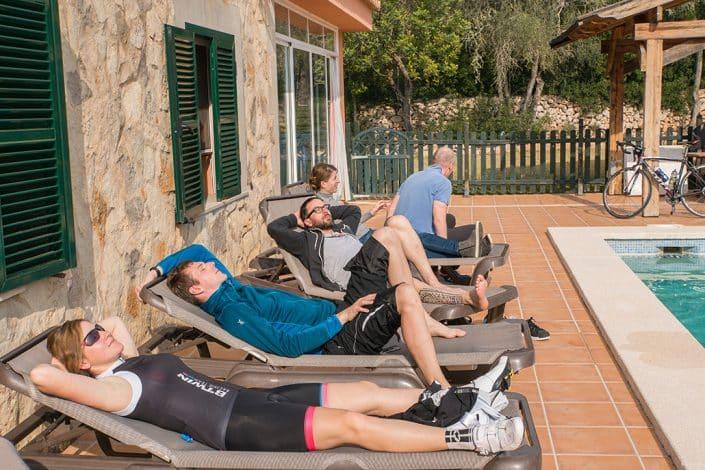 Liegestühle HIRSCH-SPRUNG Rennrad Reise Mallorca