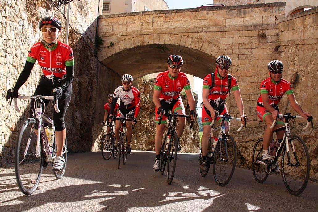 Radfahrer Stadt HIRSCH-SPRUNG Rennrad Reise Mallorca