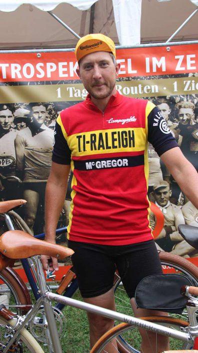 Björn bei Retro Cycling Rennrad Event