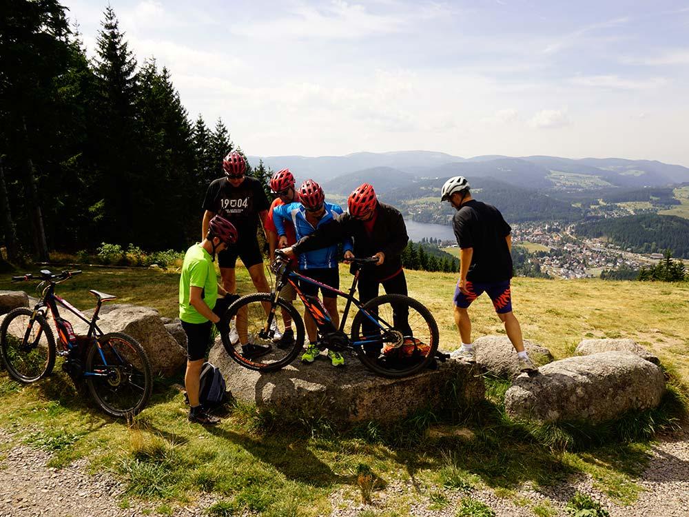Auch bei Gruppen und Firmen Events wird das Bike gecheckt