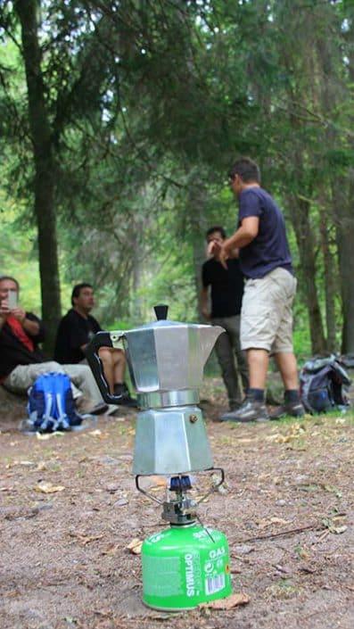 Kaffeekochen in der Natur Wandern individuelle Gruppen und Firmen Events