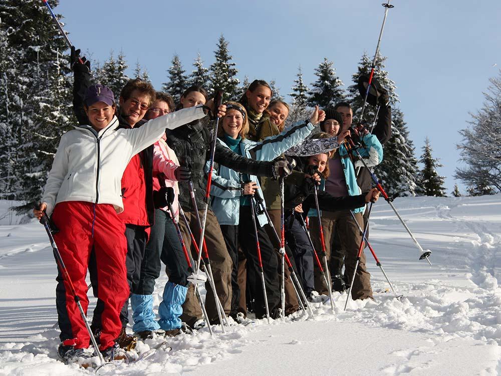 Schneeschuhwanderung für Gruppen und Firmen mit HIRSCH-SPRUNG