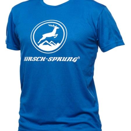 blaues HIRSCH-SPRUNG T-Shirt