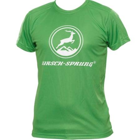 grünes HIRSCH-SPRUNG T-Shirt