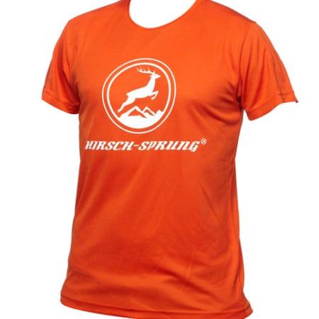 orangenes HIRSCH-SPRUNG T-Shirt