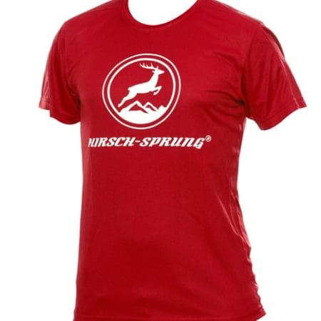 rotes HIRSCH-SPRUNG T-Shirt