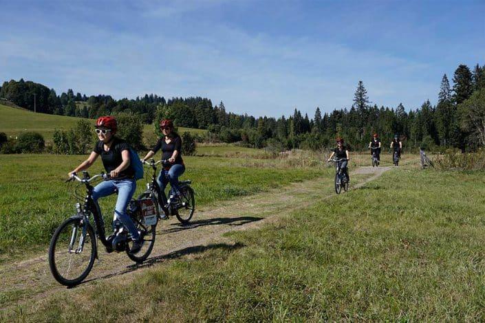 Biken HIRSCH-SPRUNG MTB Fahrtechnik Training in Titisee