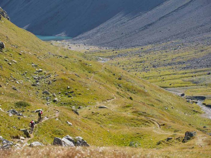 Trail Älplisee MTB Alpencross Tour Grischa MTB Ride