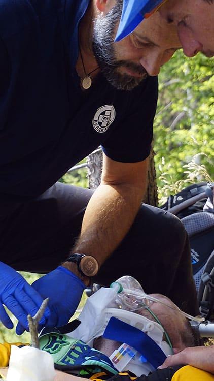 aktive Bergrettung bei der Guideausbildung
