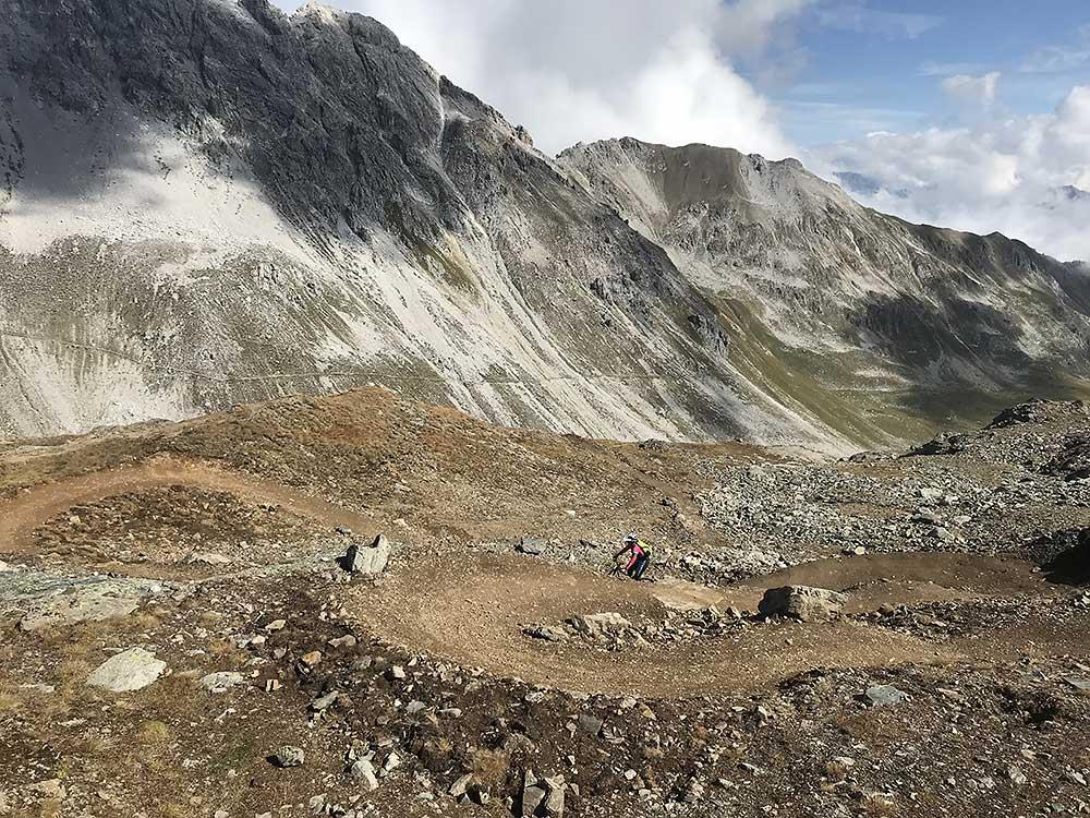 Abfahrt vom Rothorn in Graubuenden